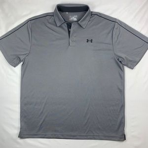 Under Armour Men's Grey Heat Gear Polo XL